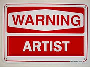 Warning artist (2008) - klaus Guingand artwork