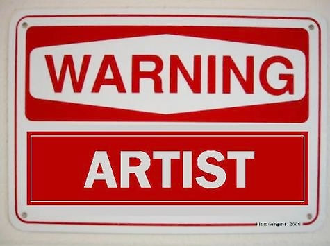Warning artist is an artwork of Klaus Guingand