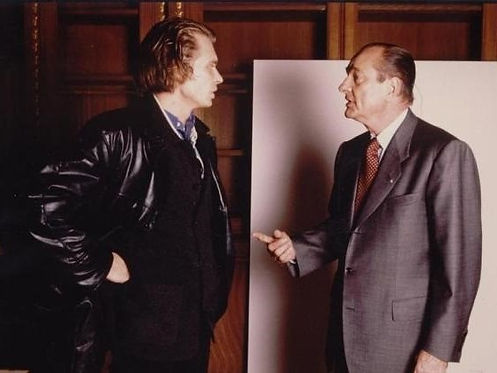 Klaus Guingand and Jacques Chirac - 1995