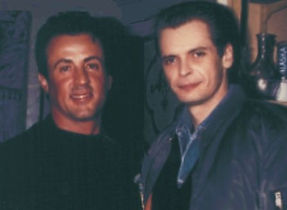 Sylvester Stallone and Klaus Guingand in 1991