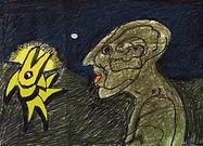1975 La découverte de l'homme aux six faces 28 ans après sa naissance. Klaus Guingand artwork