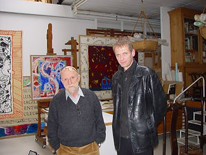 Klaus Guingand and Pierre Alechinsky - 2005 - Bougival - France