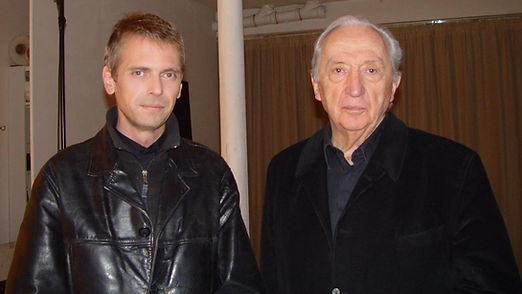 Klaus Guingand and Pierre Soulages - 2005