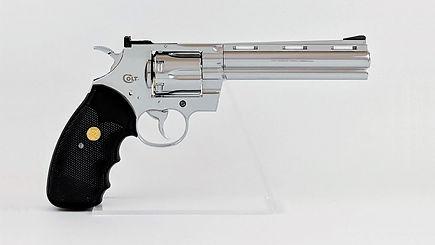 "klaus Guingand artwork ""Matthew 5.21""- 2017. Colt Pyhton 357 Magnum - 6 inches"
