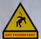 Art foudroyant - 2007- Metal panel  27.5 in x 23.6 inches. Klaus Guingand artwork