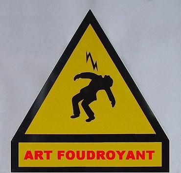 "Klaus Guingand artwork: ""Art foudroyant"" : metal panel"