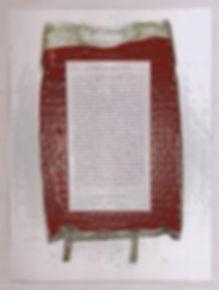 "Klaus Guingand artwork : "" Artist blood prophecy""  : Klaus Guingand blood and his prophecy : 1990"