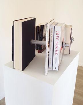 cultural barbells - sculpture 2016 by Klaus Guingand