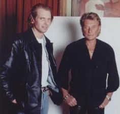 Klaus Guingand and Johnny Halliday in 1995