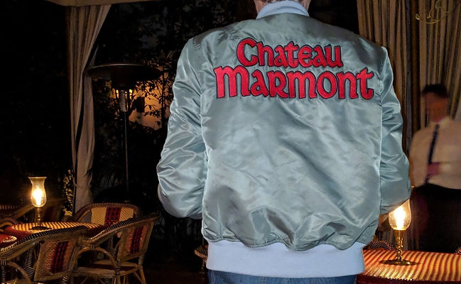 At Chateau Marmont-Bomber Jacket artwork  by klaus Guingand