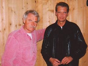 Yann Arthus-Bertrand and Klaus Guingand in 2002
