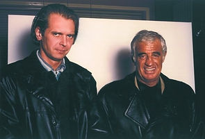 Klaus Guingand and Jean-Paul Belmondo - 1994