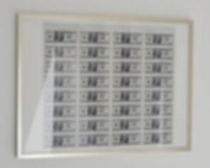 "Klaus Guingand artwork : ""$ Dollarts printing"" Prints 32 numbered bills :Dollart TM © Klaus Guingand : 1999"