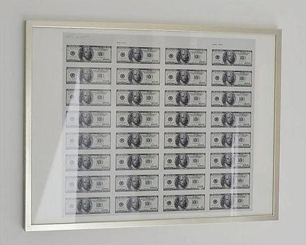 $ Dollarts printing by Klaus Guingand