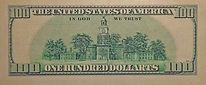 $ 100 Dollarts bill verso - klaus Guingand artwork