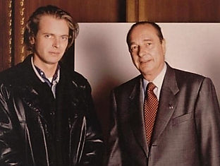 Klaus Guingand and Jacques Chirac in 1995