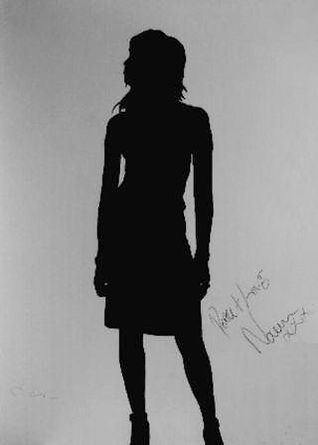 "​Klaus Guingand Artwork""Naomi Campbell's shadow"" 1995 Acrylic on canvas 78 ¾ X 59 1/8 in. Signed by Klaus Guingand and Naomi Campbell."