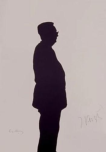 "Klaus Guingand Artwork ""Jacques Verges's shadow"" - 1994"