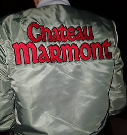 Klaus Guingand  artwork: Chateau Marmont Bomber Jacket,verso