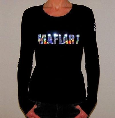 """Klaus Guingand T-shirt (woman) - """"MAFIART"""""""