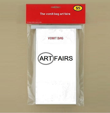 The vomit bag art fairs  - 2015 - Klaus Guingand artwork