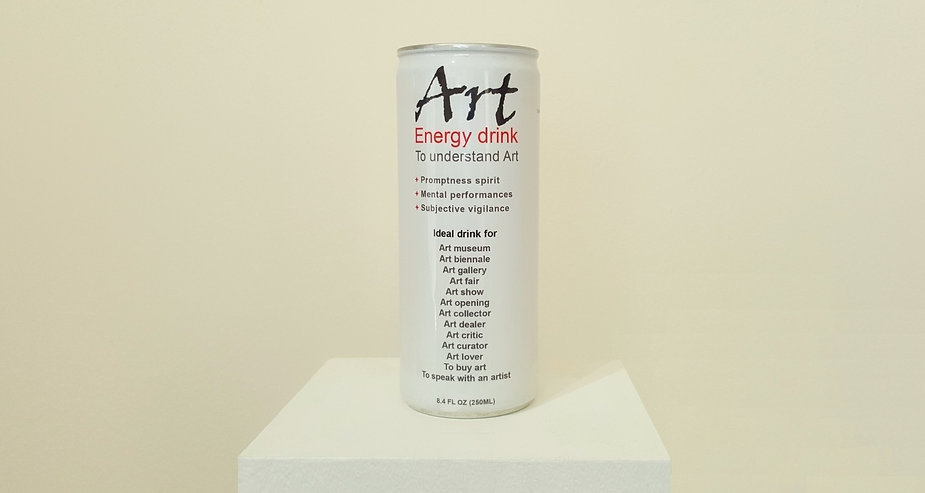 """klaus Guingand artwork """" Art"""" Energy drink to understand contemporary art. First energy drink for the mind. Create for you by Klaus Guingand."""