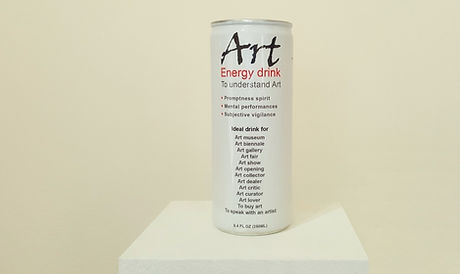 "klaus Guingand artwork ""Art"" Energy drink  to understand contemporary art. First energy drink for the mind."