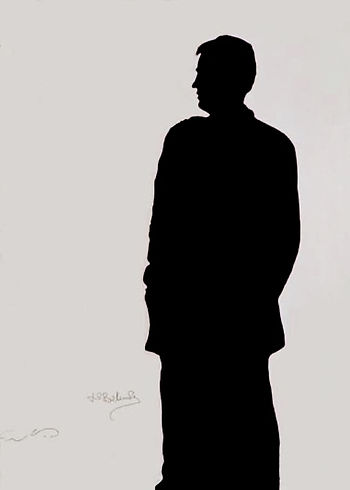 "Klaus Guingand Artwork ""Jean-Paul Belmondo's shadow"" - 1994"