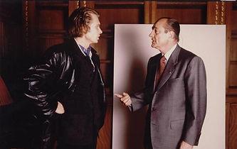 Klaus Guingand and Jacques Chirac meet.