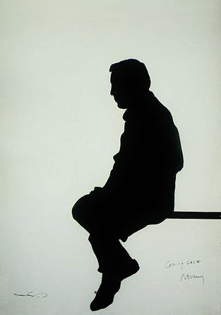 "Klaus Guingand Artwork ""Francois Beranger's shadow"" - 1987"