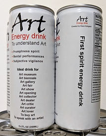 "klaus Guingand ""Art"" energy drink to understan contemporary art. First energy drink for the mind""#fiac2018"