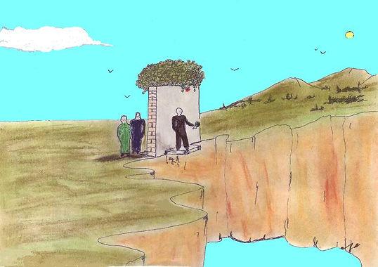 """Klaus Guingand artwork : """" Fin d'amitié """" : Color drawing  : 1978"""