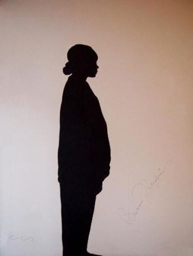 "Klaus Guingand Artwork ""Barbara Hendricks's shadow"" - 1995"
