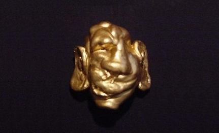 """Klaus Guingand artwork : """" L'esprit de la Matière """"  : Bronze sculpture  - 2.7 in: 1989"""
