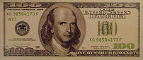 $ 100 Dollarts bill - klaus Guingand artwork