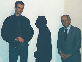 Klaus Guingand and Léo Castelli at klaus Guingand art studio.