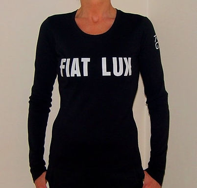 """Klaus Guingand T-shirt (woman) - """"FIAT LUX"""""""