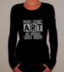 "Klaus Guingand T-shirt (woman) - ""Life with Art is good for you"""