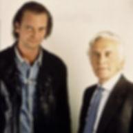Klaus Guingand and  Kirk Douglas - 1995