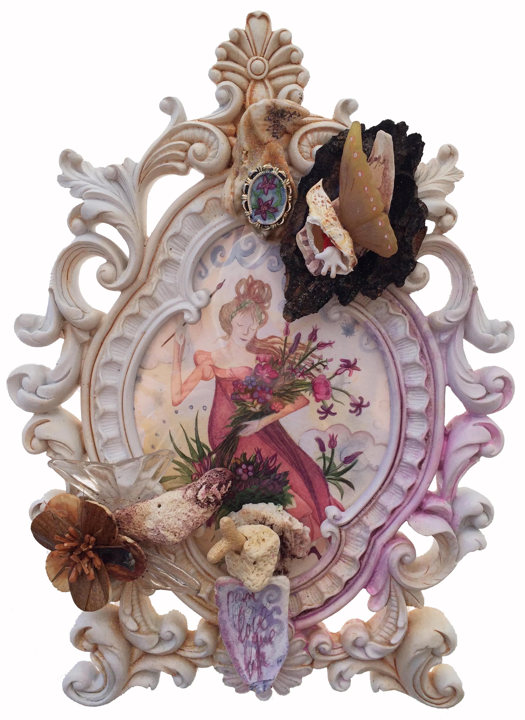 Flora Paints her Bouquet