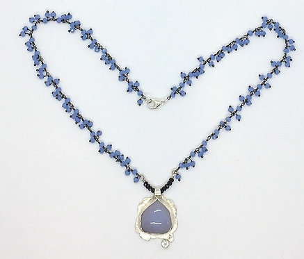 One-of-a-Kind Chalcedony Silver Pendant