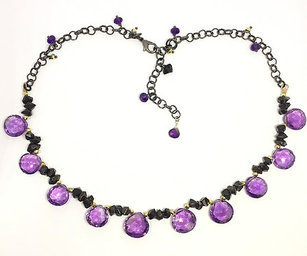 Amethyst and Agate Statement Necklace