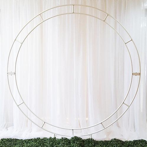 7' Circle Display WHITE