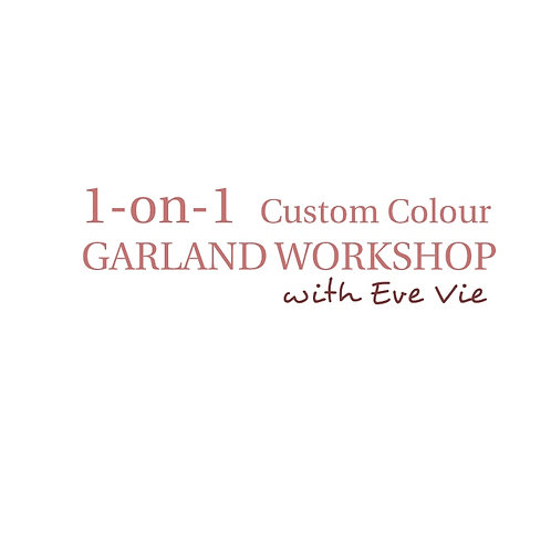 1on1 2HR Balloon GARLAND Workshop (Pick your own colours)