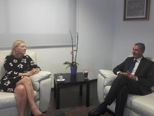 Συνάντηση Γ. Λιλλήκα με Ειδική Αντιπρόσωπο ΓΓ του ΟΗΕ στην Κύπρο