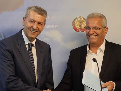 Συνάντηση Γ. Λιλλήκα με Γ.Γ. ΑΚΕΛ Α. Κυπριανού