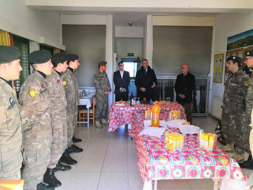 Επίσκεψη σε στρατιωτικά φυλάκια
