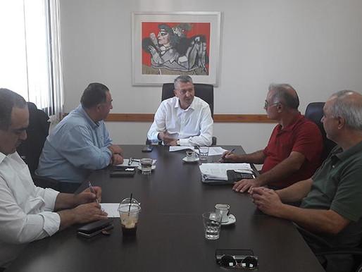 Συνάντηση Γ. Λιλλήκα με τον Σύνδεσμο Υπαλλήλων Λαϊκής Τράπεζας