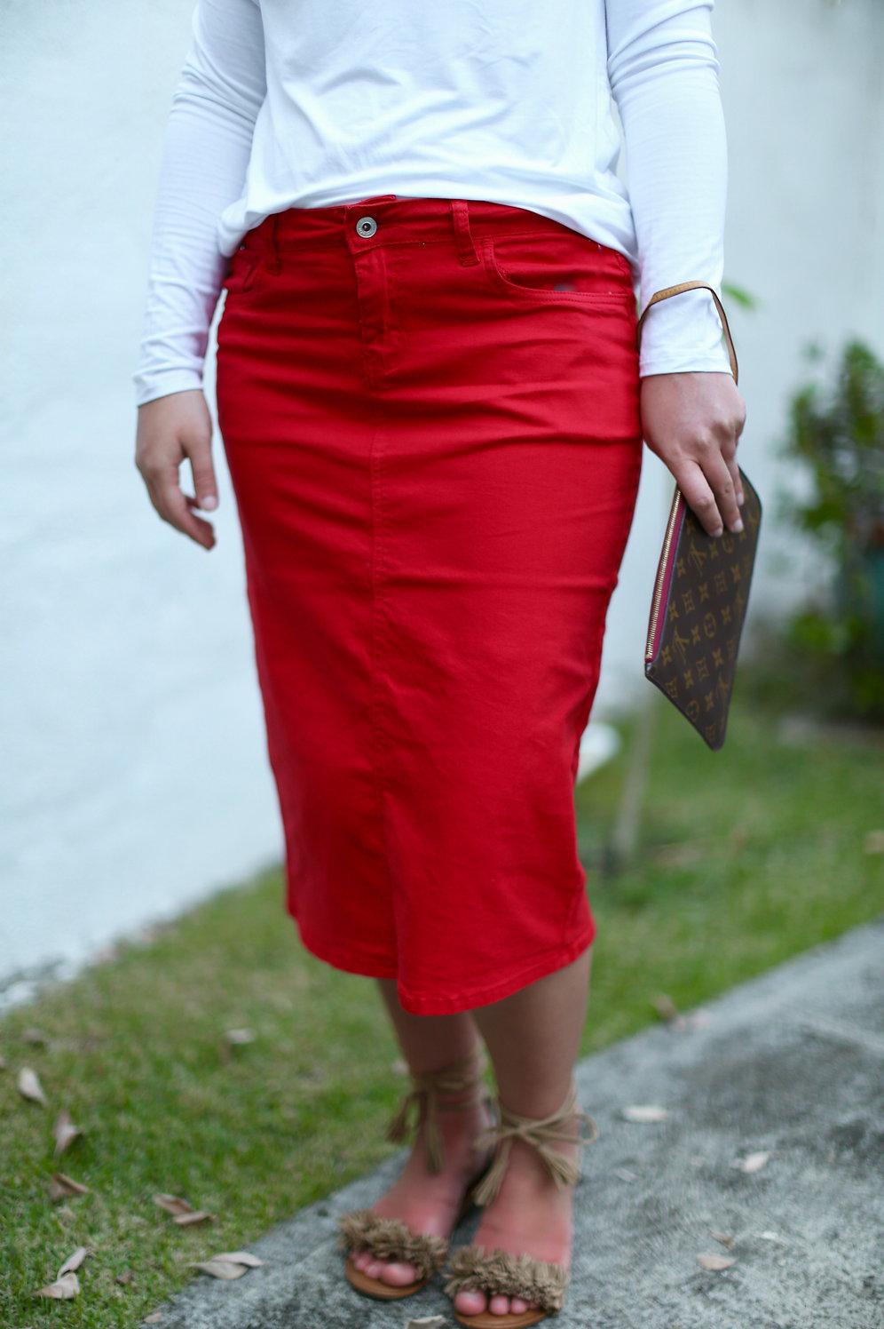 5d07128064 Colors Denim Skirt (5 colors) | peonystreetboutique