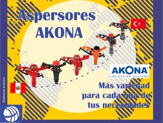 """ASPERSORES AKONA DE 1/2"""", 3/4"""" Y 1"""" CIRCULAR Y SECTORIAL"""